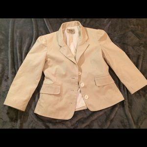 Cream and white Seersucker jacket
